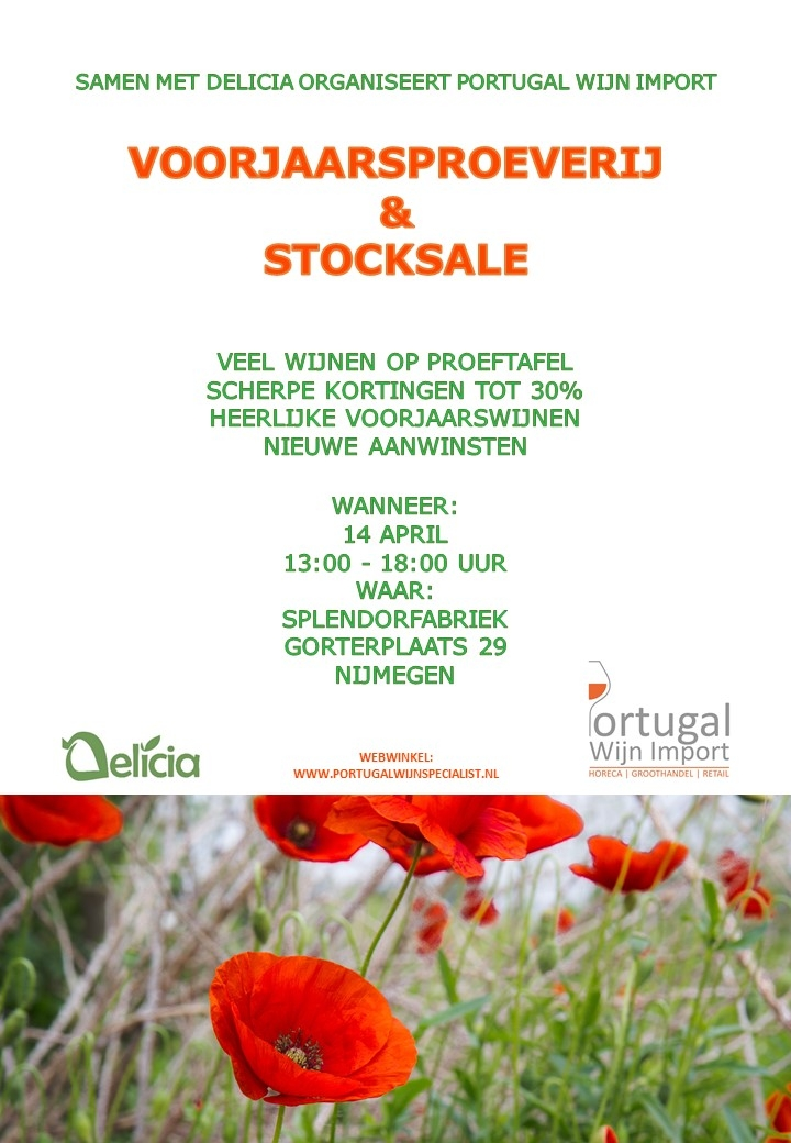 VOORJAARSPROEVERIJ & STOCKSALE 14 APRIL